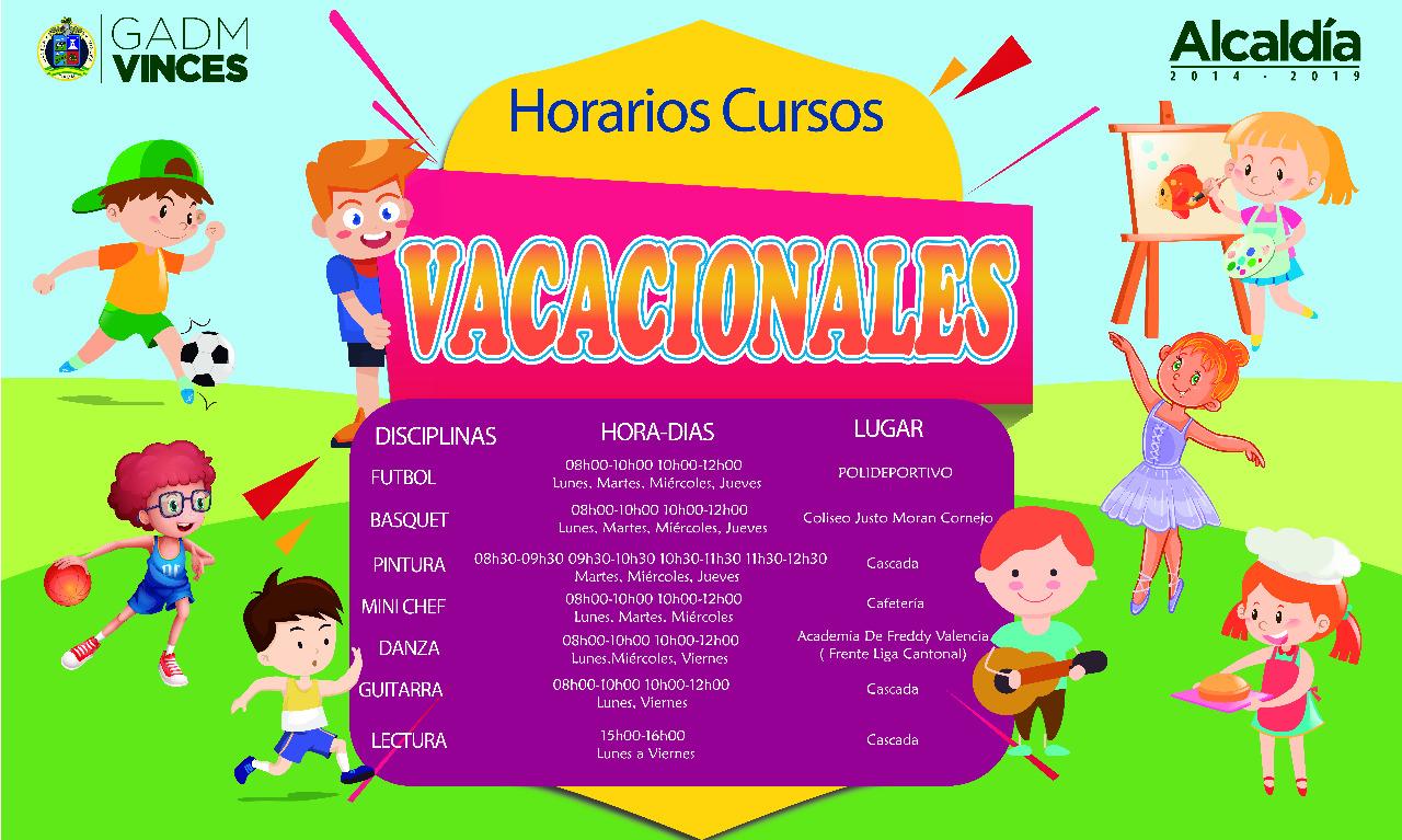 Horarios de Cursos Vacacionales 2019